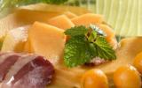 Carpaccio de melon de Nérac en infusion de poivre et verveine citronnée