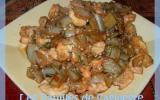 Côtes de bettes sautées aux crevettes et sauce soja