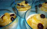 Panna cotta coco & compotée de mangue