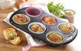 Muffins au fromage de chèvre, cornichons, ail et fines herbes