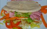 Pita jambon crudités