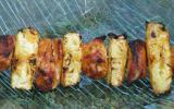 Brochettes de poulet marinées à l'ananas
