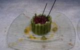 Charlottes d'asperges vertes et de chèvre à l'huile d'olive