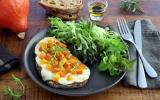 Tartines au potimarron et mozzarella
