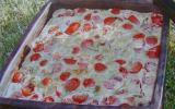 Clafoutis de tomates cerises au cidre et à la muscade