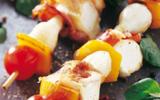 Brochettes de Picodons aux légumes