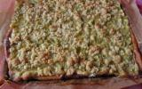 Gâteau à la rhubarbe et au streusel