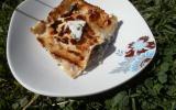 Lasagnes aux champignons de Paris et crème de roquefort