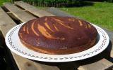 Zebra cake à la vanille, Amaretto, chocolat et orange confite
