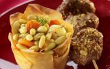 Petits steaks de canard et jardinière saupoudrés de Gomasio