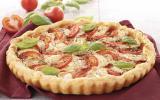 Tarte tomates mozzarella maison