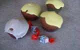 Cupcakes aux chocobons coeur fondant nutella
