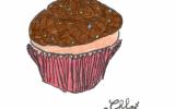 Cupcakes aux bananes et pépites de chocolat