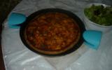 Pizza tomates cerises basilic