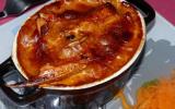 Nage de langoustines et crevettes