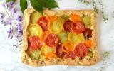Pizza rustique à la tomate et au thym