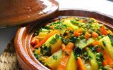 Tajine de carottes, petits pois et pommes de terre