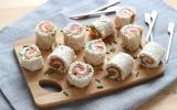 Mini-roulés au saumon