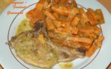 Côtes de porc aux carottes