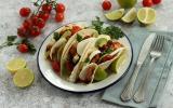 Tacos à l'avocat et mozzarella de vache