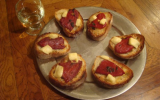 Tartines de piquillos (piments rouges basques)