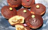 Muffins fourrés au kiwi nappés et au chocolat noir