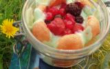 Trio gourmand vert : bocaux de charlotte aux fruits rouges et à la pistache