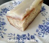 Gâteau de bananes glacé au sucre