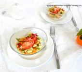 Salade de homard, clémentine, avocat et citron caviar