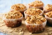 Muffins à la pomme, flocons d'avoine et cannelle