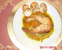 saumon en papillote aux achards