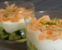 Recettes de verrines au concombre les recettes les mieux for Entree fraicheur rapide