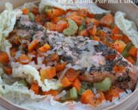 Recettes base de chou chinois et saumon les recettes - Cuisiner saumon surgele ...