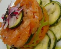 Recettes d 39 entr es au saumon et crudit s les recettes for Entree crudite originale