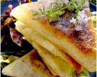 trio de samossas au fromage frais