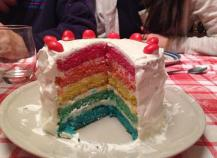 Rainbow cake Frenchie