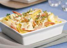 Tagliatelles aux crevettes et au parmesan
