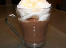 Verrine d'ile flottante au chocolat