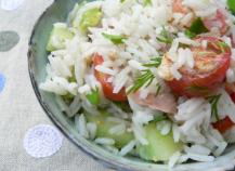 Salade de riz au surimi
