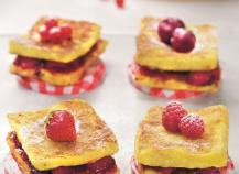 Pain perdu brioché aux 4 Fruits Rouges