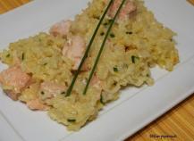 Risotto au saumon et safran