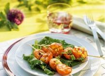 Brochettes de langoustines aux abricots