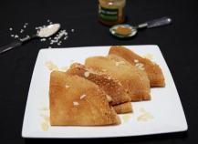 Crêpes sans gluten et sans lactose au lait d'amande et farine de riz