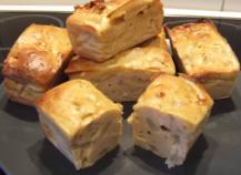 Mini-cakes au foie gras et à la poire