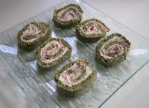 Roulé épinards, saumon et boursin