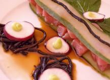 Sashimi de thon, algues Hiziki