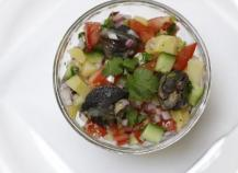 Salade indienne aux escargots