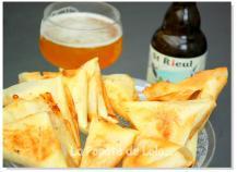 Samoussas au Maroilles et à la bière de printemps