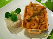 Crevettes sauce pimentée