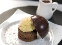 Fondant au chocolat façon profiterole